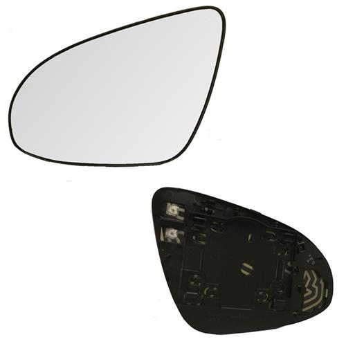 Left Driver Side Mirror Glass /& Rear Backing Plate for 12-14 Toy Camry