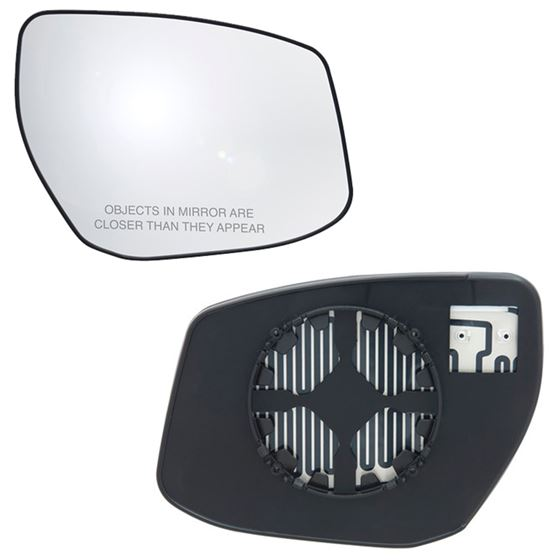 Fits 13 17 Nissan Sentra Passenger Side Mirror Glass With Back Plate