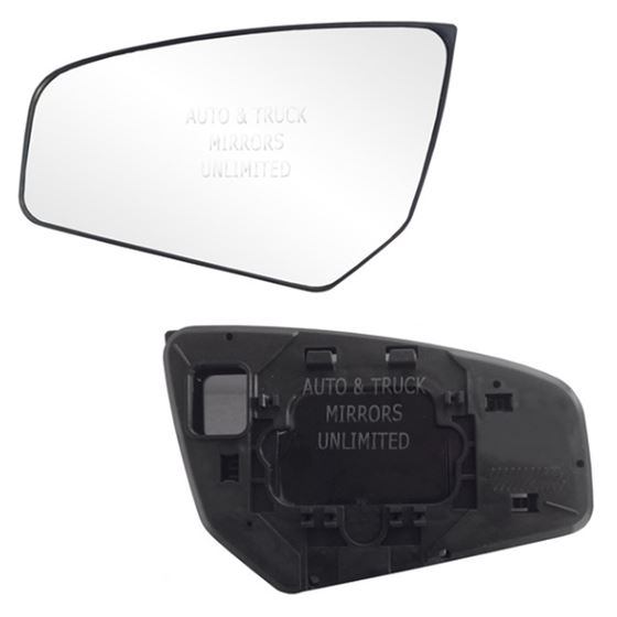 Fits Sentra 07 12 Driver Side Mirror Glass With Back Plate