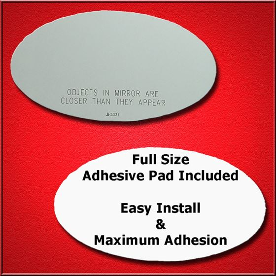 Mirror Glass Replacement Full Adhesive For 02 08 Mini Cooper
