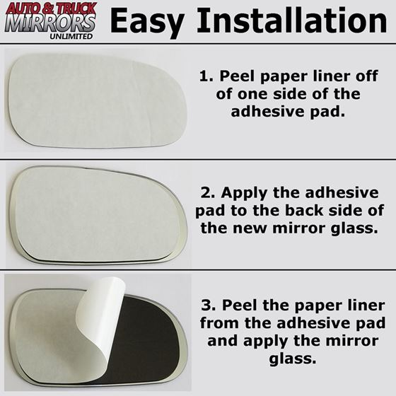 Mirror Glass Replacement Full Adhesive For 05 11 Toyota Tacoma