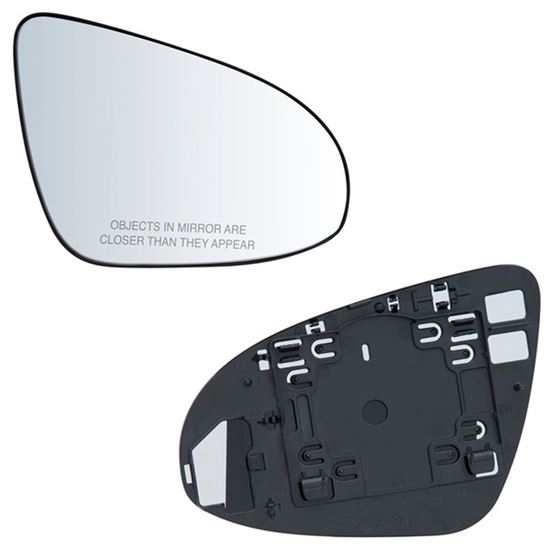 Fits 12 14 Toyota Camry Passenger Side Mirror Glass With Back Plate