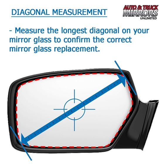 Mirror Glass Adhesive For 15 18 Ford F 150 Driver Side Replacement